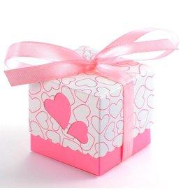25 doosjes voor bedankjes roze
