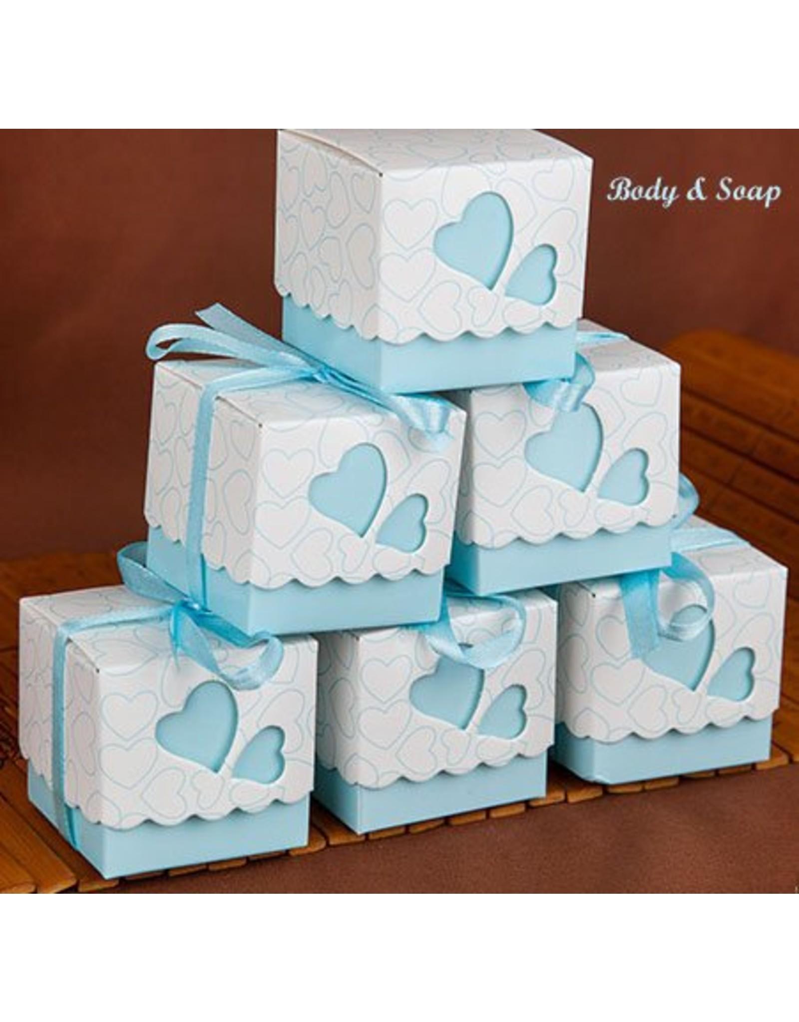Doosjes voor bedankjes blauw 25 stuks - Body & Soap