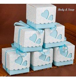 25 doosjes voor bedankjes blauw