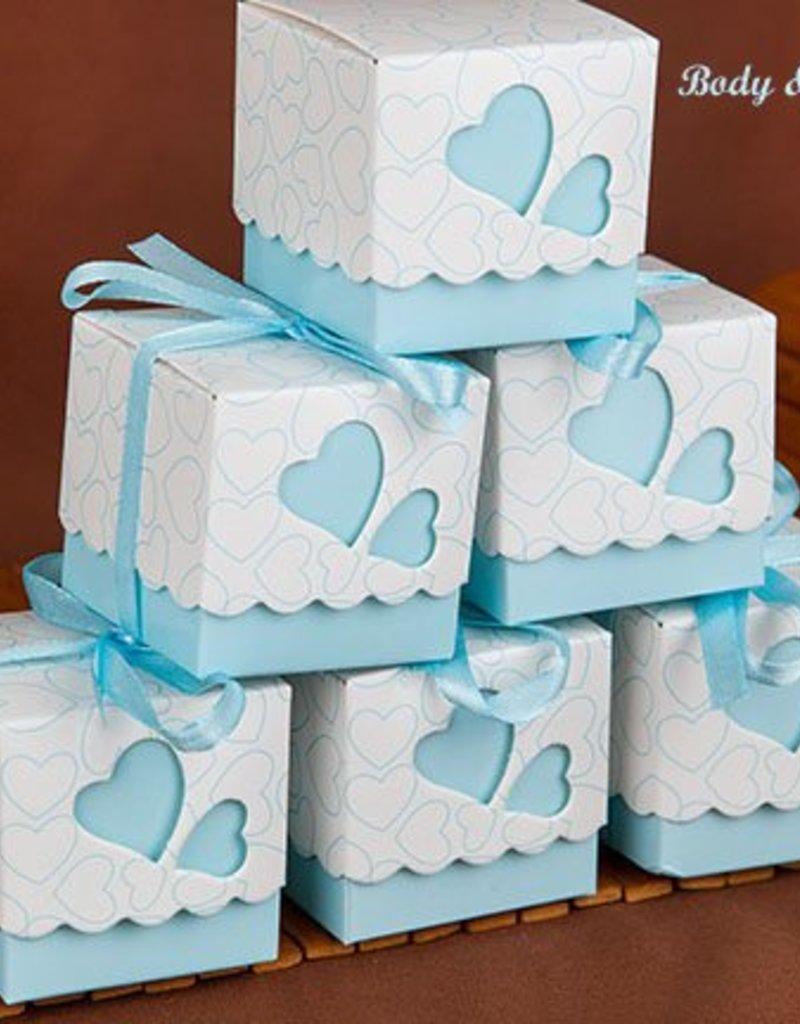 25 doosjes voor bedankjes blauw - Body & Soap