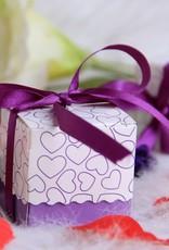 25 doosjes voor bedankjes paars/lila - Body & Soap