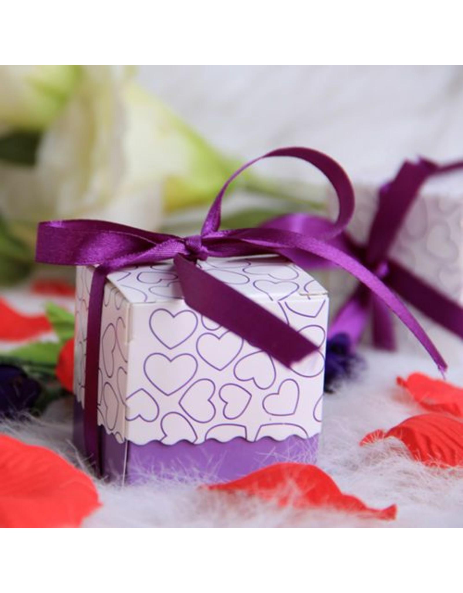 Doosjes voor bedankjes paars/lila 25 stuks - Body & Soap