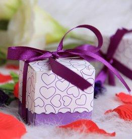 25 doosjes voor bedankjes paars/lila