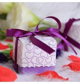 Doosjes voor bedankjes paars/lila 25 stuks