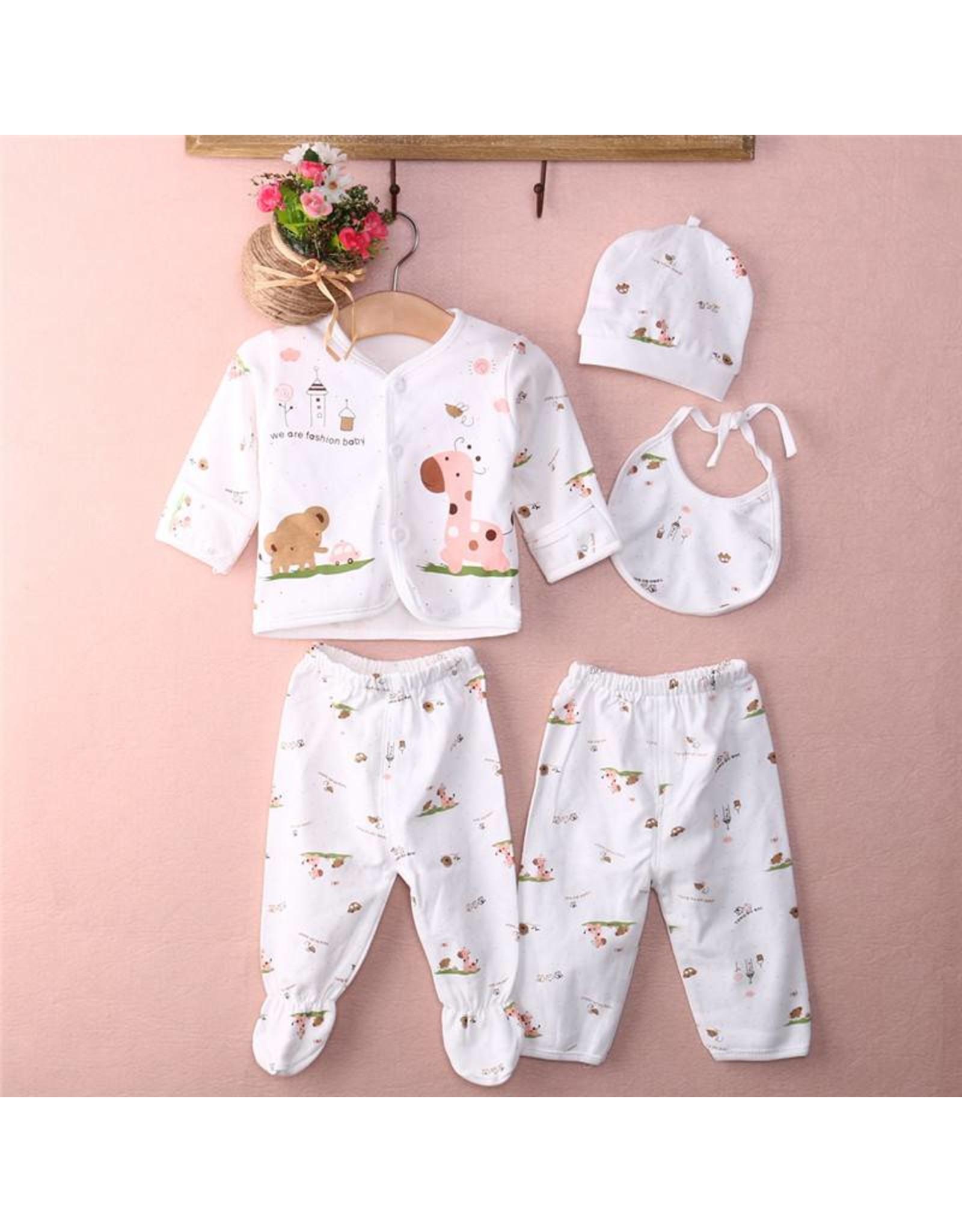 Babykleding 5-delig roze - Body & Soap