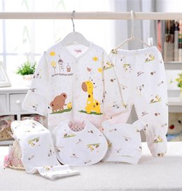 Babykleding 5-delig geel