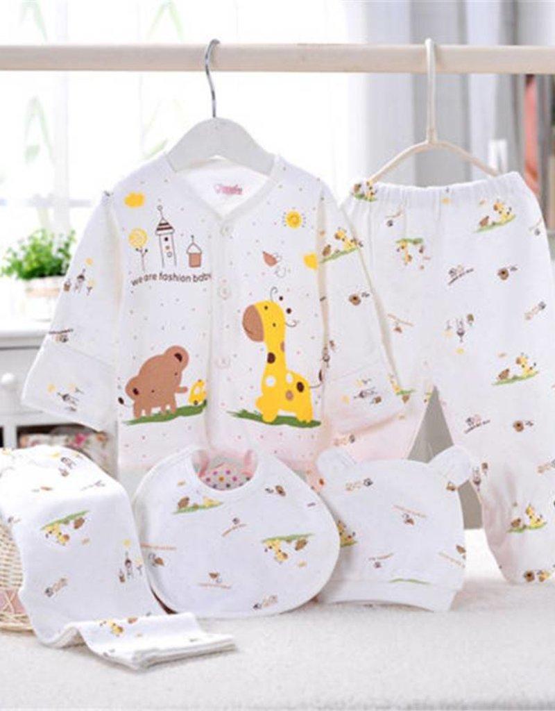 Babykleding 5-delig geel - Body & Soap