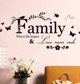 Muursticker Home Family