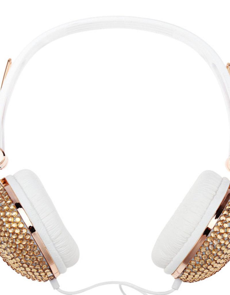 Bling Koptelefoon goud/wit - Body & Soap