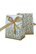 Doosjes voor bedankjes goud/wit 25 stuks - Body & Soap