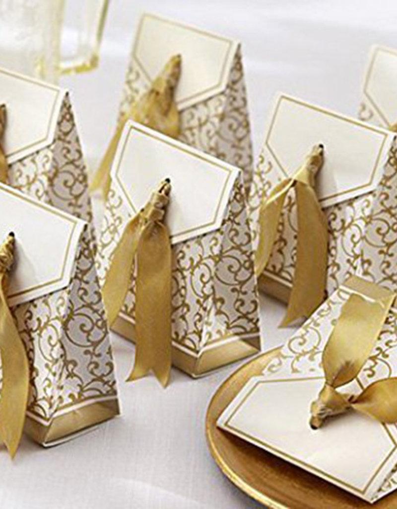 Doosjes voor bedankjes goud/wit - Body & Soap