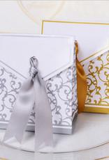 Doosjes voor bedankjes zilver/wit - Body & Soap