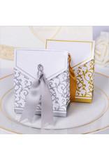 Doosjes voor bedankjes zilver/wit 25 stuks - Body & Soap