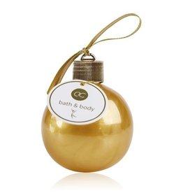 Kerstbal (goud) gevuld met bad- en douchegel 240ml
