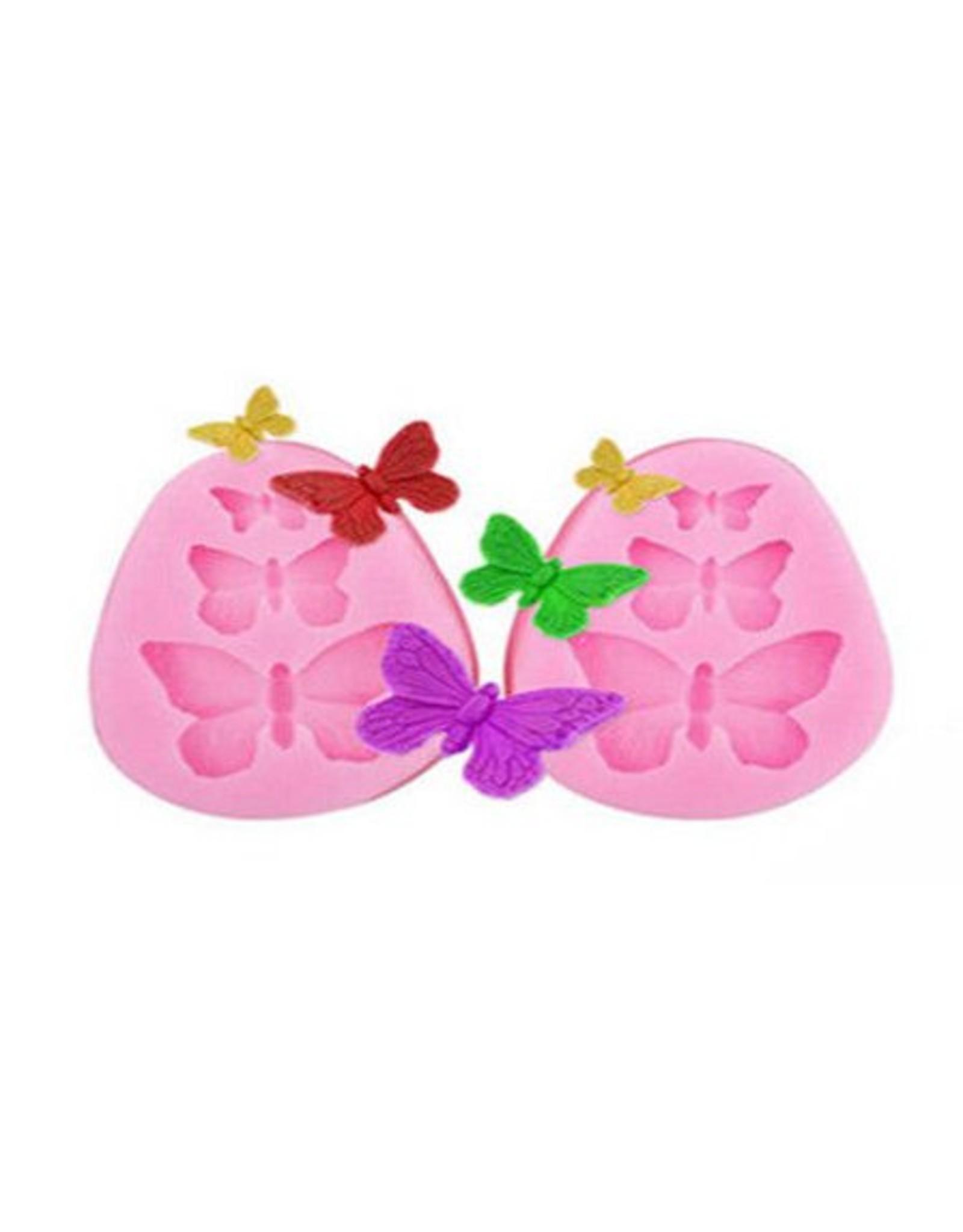 Siliconen gietmal 'Vlinders' - Body & Soap