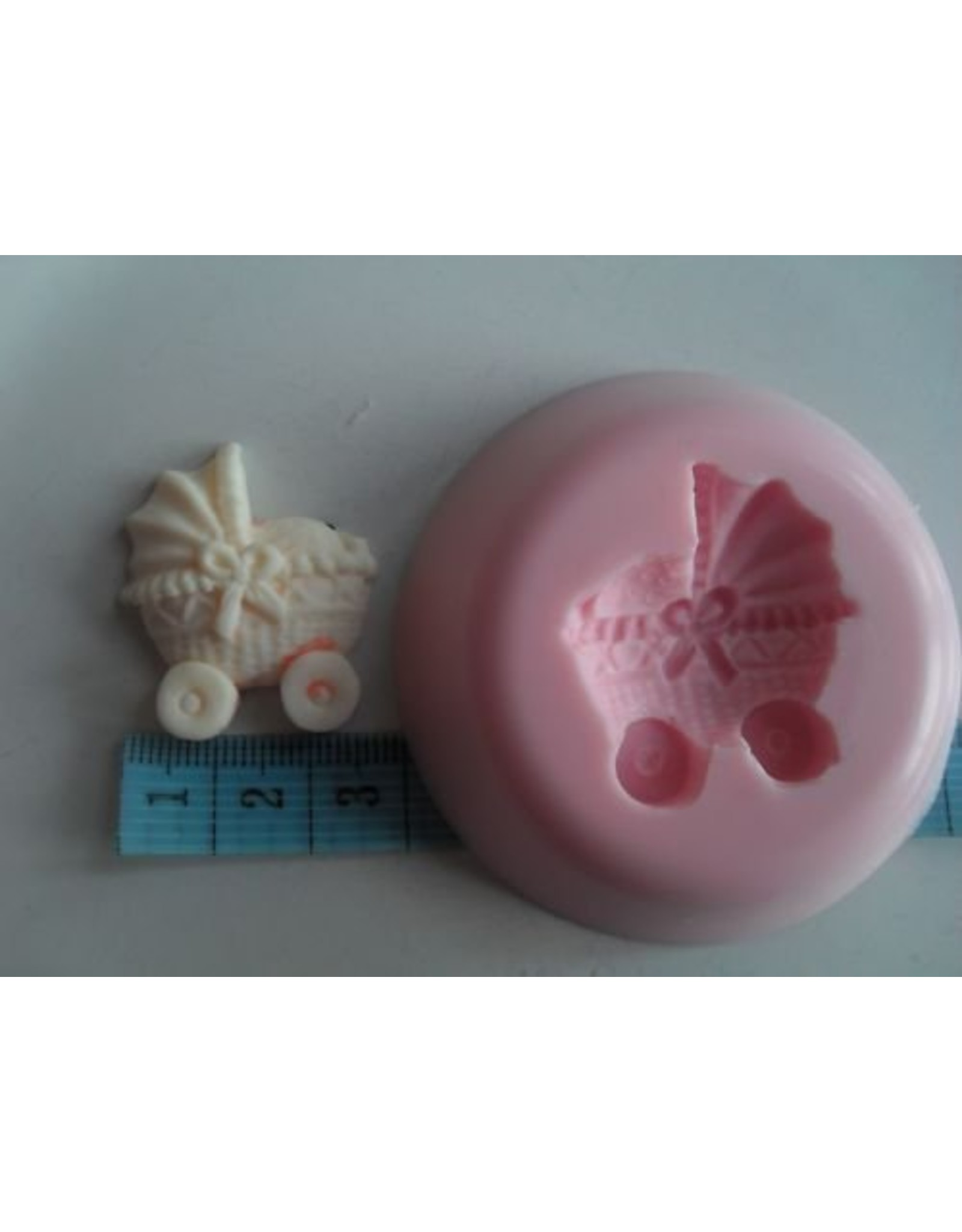 Siliconen gietmal 'Kinderwagen' - Body & Soap