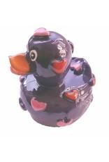 Lipgloss 'Pucker Duck' Paars met Rood/Roze hartjes - Body & Soap