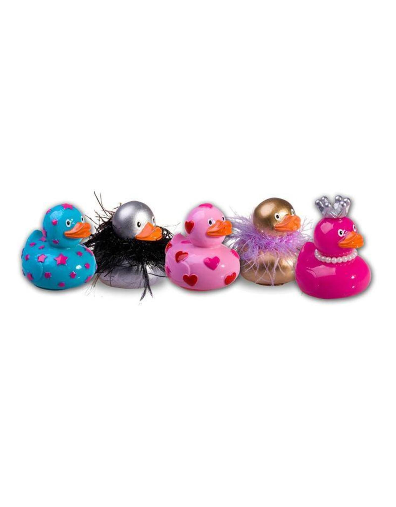 Lipgloss 'Pucker Duck' Roze met Rood/Roze hartjes - Body & Soap
