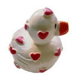 Lipgloss 'Pucker Duck' Wit met Rood/Roze hartjes
