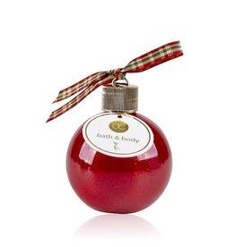 Kerstbal (rood) gevuld met bad- en douchegel 240ml