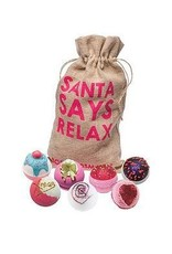 Bomb Cosmetics 7 Bath Blasters 'Santa Says Relax' - Body & Soap