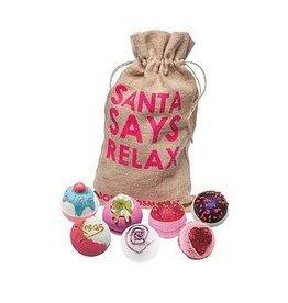 Bomb Cosmetics 7 Bath Blasters 'Santa Says Relax'