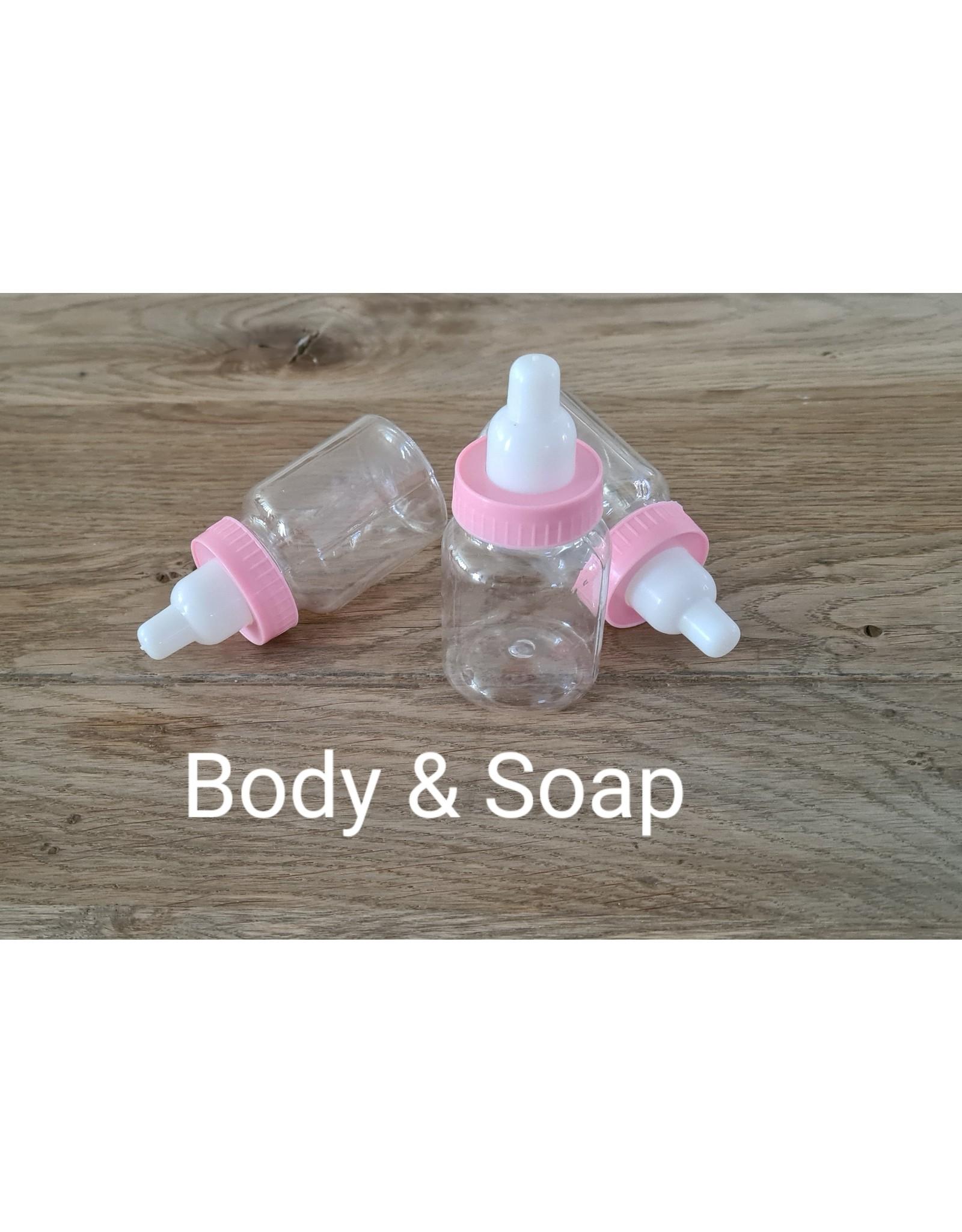 12 babyflesjes (roze) - Body & Soap