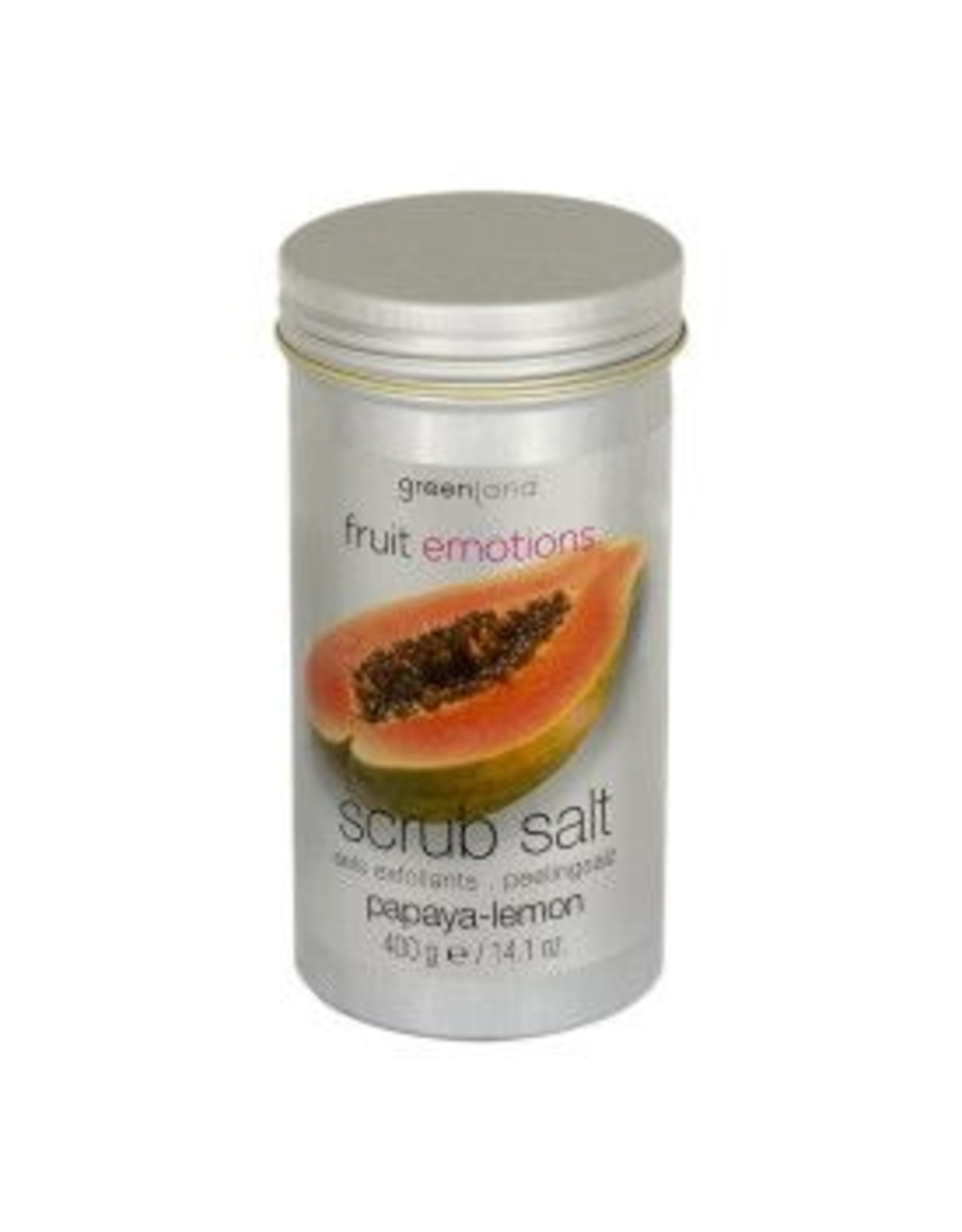 GreenLand Scrub Salt  Papaya Lemon 400g  - Body & Soap