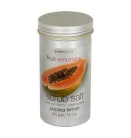 GreenLand Scrub Salt  Papaya Lemon 400g