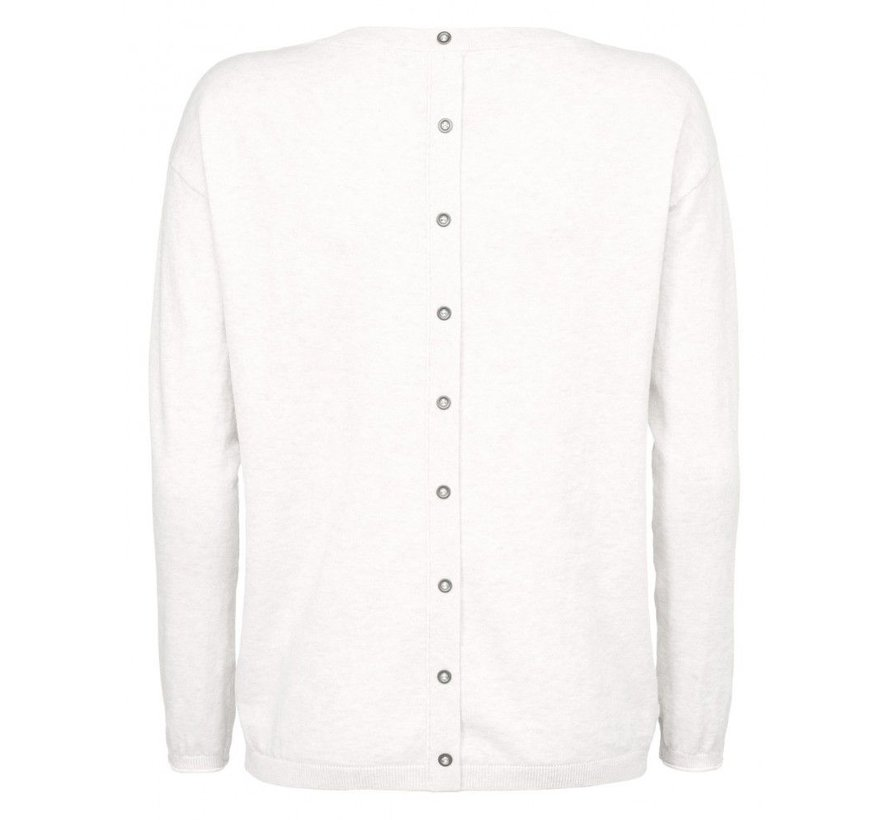 BASIC SWEATER BUTTONS AT BACK