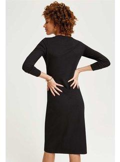People Tree Irene Wrap Dress-Black