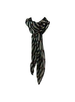 Black Colour RETRO bow scarf