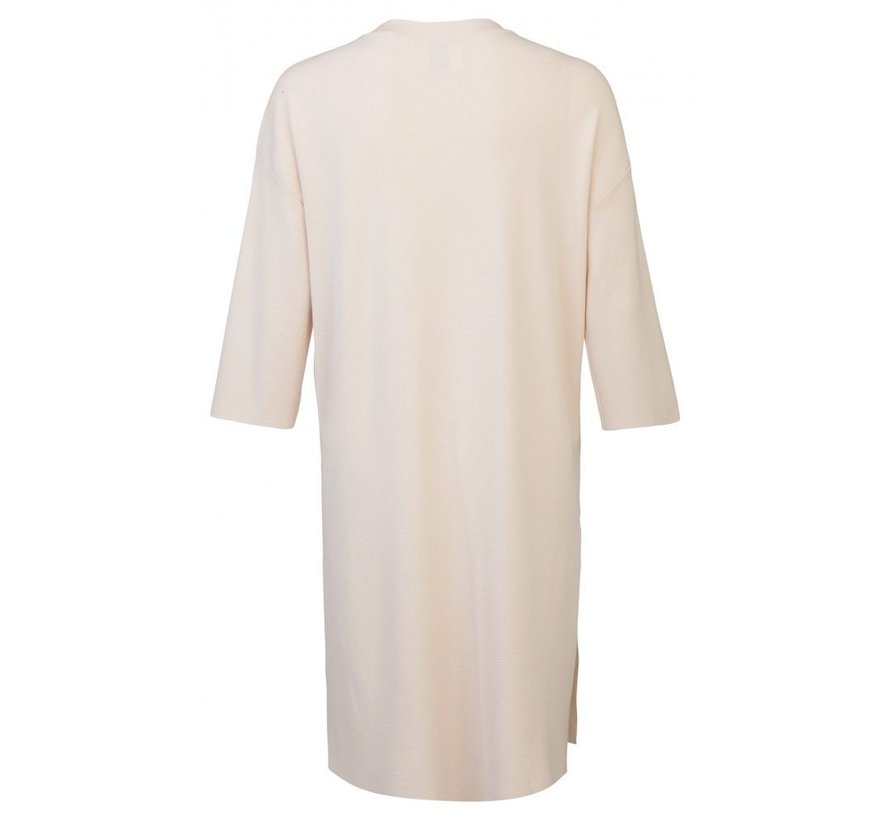 3/4 SLEEVE DRESS WITH HIGH SLITS