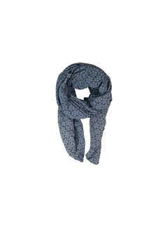 Black Colour FROST scarf-jeansblue