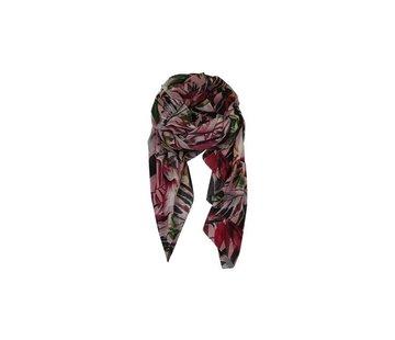 Black Colour ACAPULCO scarf-rose