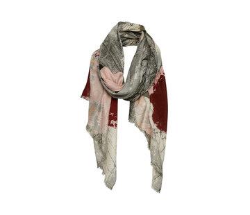 Part Two Lemara scarf-Artwork Multi Colour