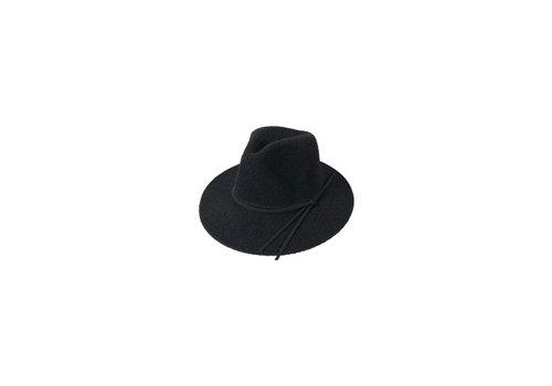 Black Colour Tricot summer hat