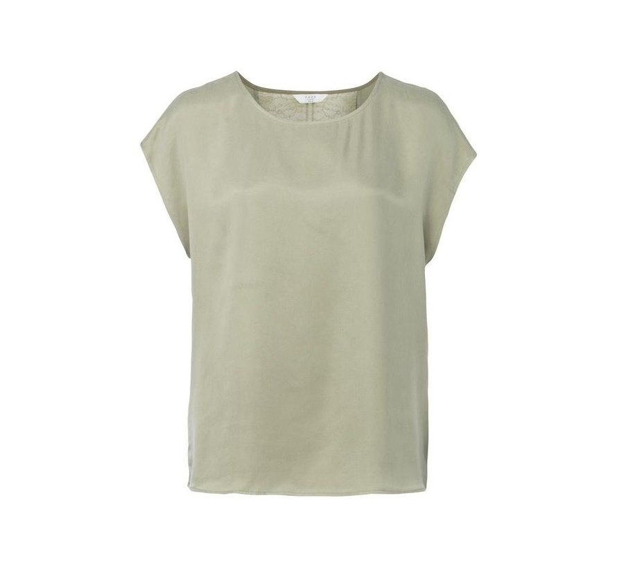 CUPRO TOP WITH LACE INSERT AT BACK