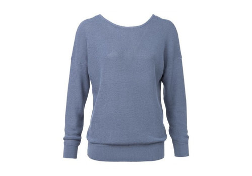YAYA SWEATER WITH V-NECK BACK AND STRAP