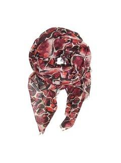 Black Colour STONE scarf - röd