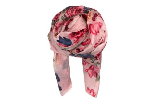 Black Colour BLOOM scarf-rose