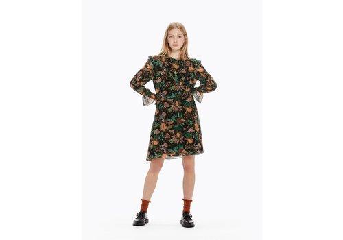Maison Scotch Ruffle Jungle Print Dress
