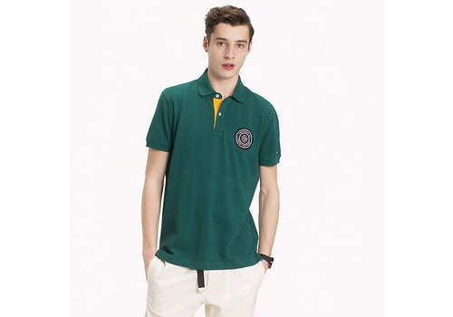 Tommy Hilfiger POLOSHIRT MIT BADGE-APPLIKATION