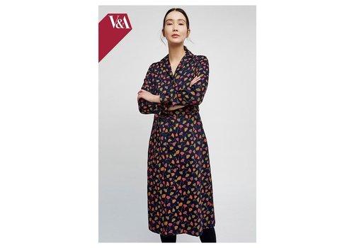 People Tree V&A Poppy Print Coat Dress