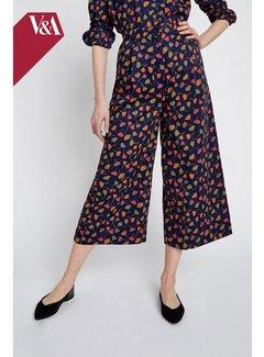 People Tree V&A Poppy Print Trousers