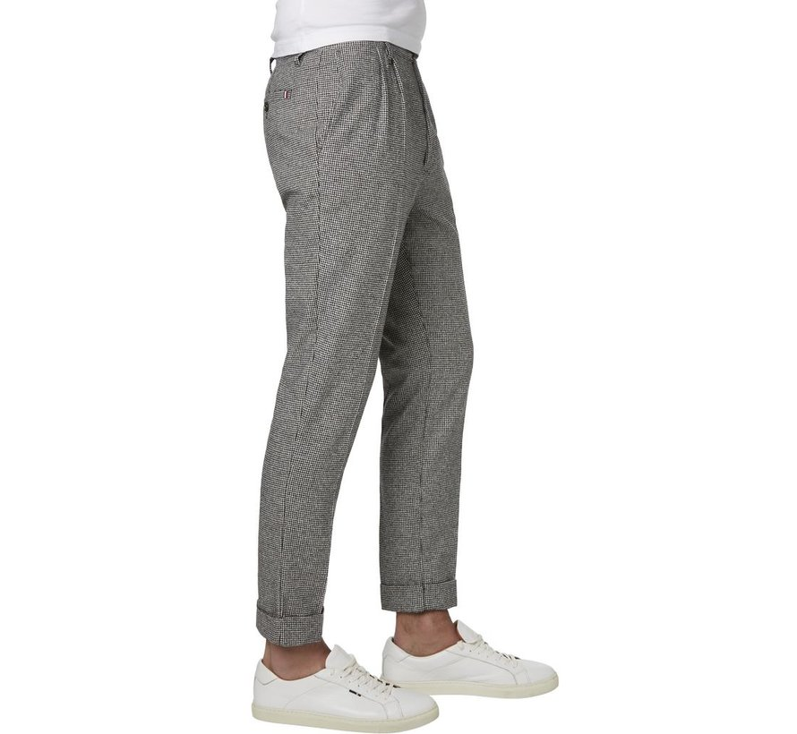 CHECK CROPPED FIT TROUSERS