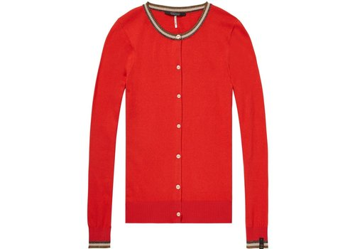 Maison Scotch Basic cardigan with special ribs