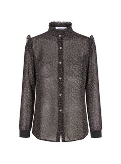 Co'Couture Scribble Flower Frill Shirt L/S