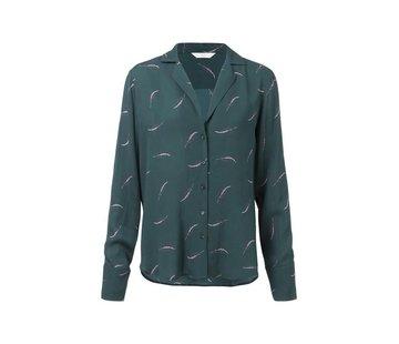 YAYA Pajama style blouse with grain print