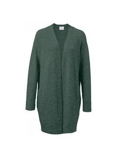 YAYA Long basic cardigan in alpaca woolblend